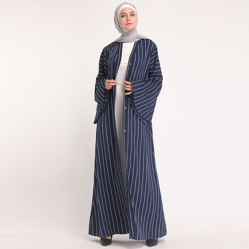 7917d381b6 Denim Kaftan Dubai Abaya Kimono Hijab musulmán vestido Abayas para las mujeres  túnica caftán marroquí Qatar