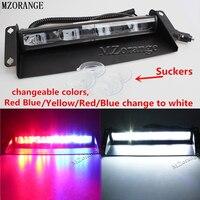 MZORANGE 12 leds 24 v 36 W Car Luz De Aviso Vermelho Azul branco Caminhão da Polícia Luz do Flash Strobe Luz Brisa Do Traço de Emergência luz