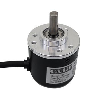 цена на Free Shipping CALT 38mm 6mm shaft Incremental Rotary Encoder 100ppr 200p/r 360 pulse 400 600 1000p/r A B Phase NPN output 8-24V