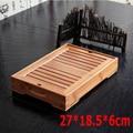 Heißer Verkauf Hohe qualität bambus tee tablett massivholz tee set kung fu werkzeuge für tasse teekanne handwerk fach 27*18 5*6 cm Freies Verschiffen-in Teegeschirr-Sets aus Heim und Garten bei