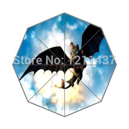 Umbrellas Nice 2014 Novelty Item Custom Your Loved Cartoon How To Train Your Dragon Automatic 3 Fold Umbrellas Good Gift For Birthday Friend Reliable Performance