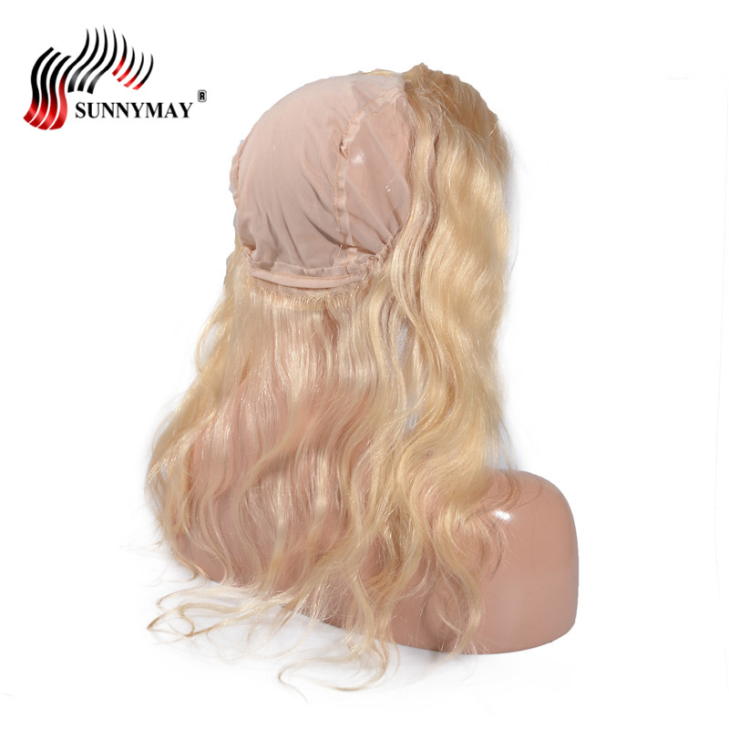 Sunnymay Blonde 360 Lace Frontal With Cap 613 Color Brazilian Virgin Hair Body Wave Beauty Forever Hair Lace Frontal Closure