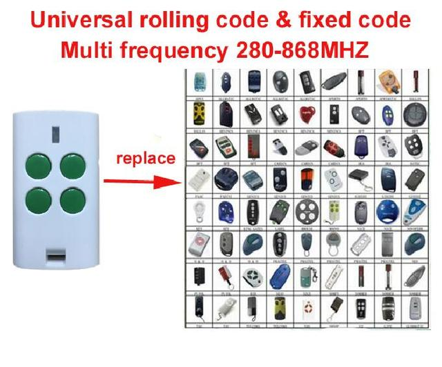 Universal Multi Frequency 280 868mhz 4 Button Key Fob