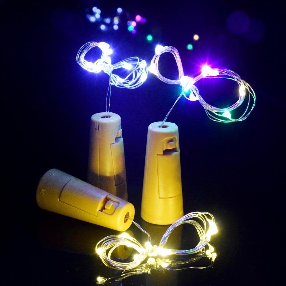 TSLEEN Silber Draht Verkorkt LED String Licht Flaschenverschluss ...