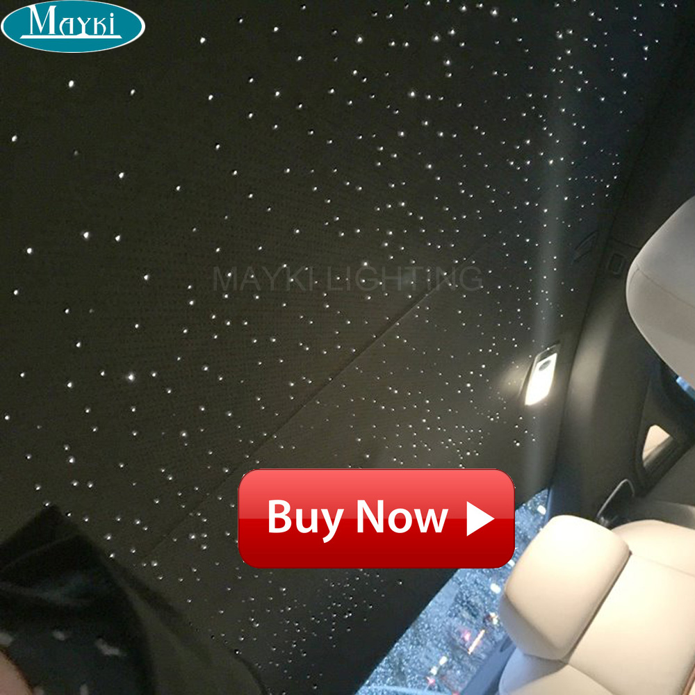 Maykit Car Ceiling Star Light Led Fiber Optic Light 3w Cree Led Optic Fiber Illuminator With Specific Color Effect Remote все цены