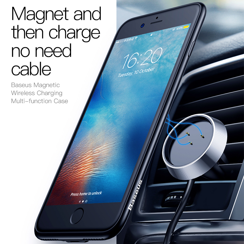 Baseus Qi Wireless Charger Case For Iphone 8 7 Plus Luxury Finger