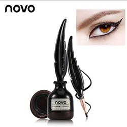Novo Brand New Feather Ink Air Cushion Eyeliner Liquid Speed Dry Eyeliner Durable Waterproof Anti-sweat No Blooming Cosmetics