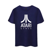 ATARI Logo of Atari Printed T Shirt Summer Cotton Short Sleeve Arcade enthusiasts T-Shirt Tops Plus Size 4XL Pop Atari Games