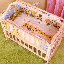 5PCS set baby crib bedding set cartoon baby bedding set newborn baby bed set crib bumper baby bed bumper 100x58cm CP01