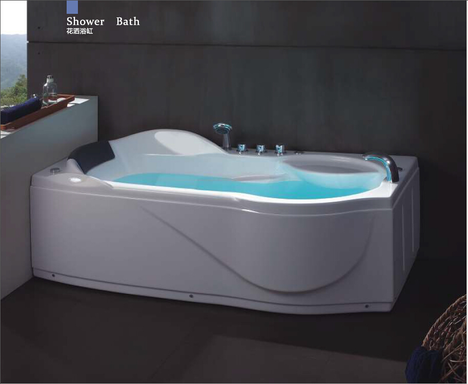 67' Left Or Right Left Head Rest Option Whirlpool Bathtub Acrylic ABS Composite Board Piscine Massage Bath W4008