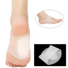 1 Pair Arch Support Sleeves Plantar Fasciitis Silicone Heel Spurs Foot Care Flat Feet Socks Cushions Pads for Men Women gel heel cups pads for plantar fasciitis sore feet bruised foot pain relief bone spurs treatment shoes support protectors 2 p