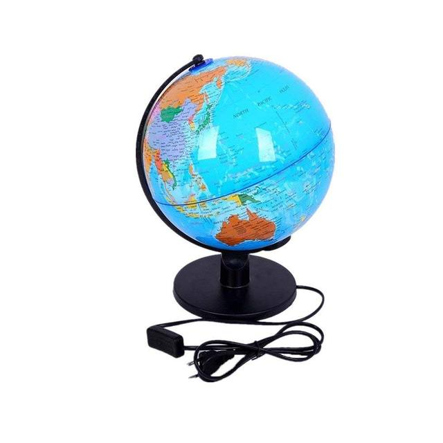 World Globe Map Table Desk Lamp Led Night Light Kids Gift