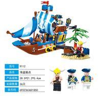 GUDI 200 pcs royal navire de guerre vasa pirate bastion grands Modèles Blocs de Construction éducatifs D'anniversaire Cadeau Compatible Legoe