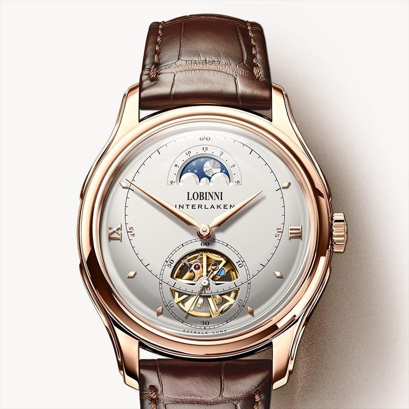 Japón Top MIYOTA mecánico automático MOVT suiza marca de lujo LOBINNI reloj hombres zafiro impermeable reloj para hombre L13022 4-in Relojes mecánicos from Relojes de pulsera    1