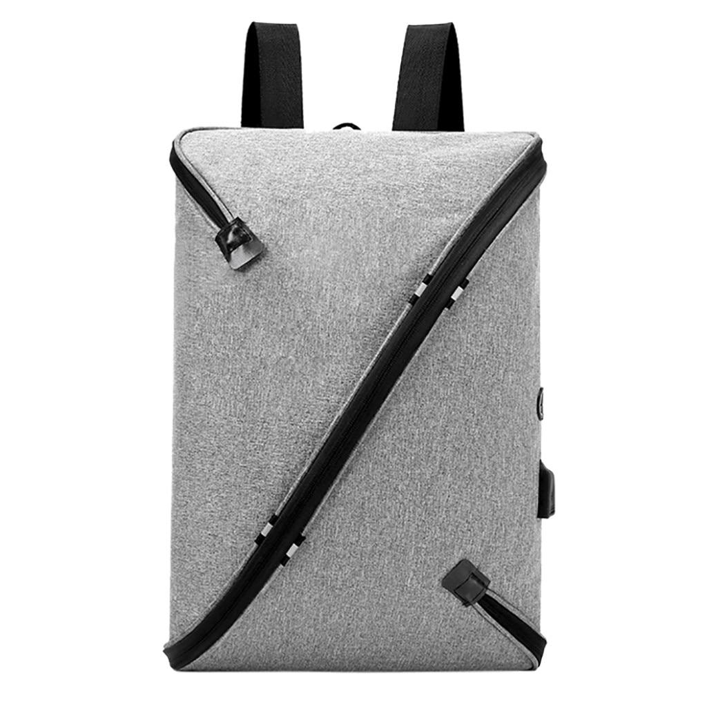xiniu Fashion USB Backpack Men s Casual Bag Shaped Backpack Computer gray  zipper Bag Travel Bag Mochila 634a3477a3f7