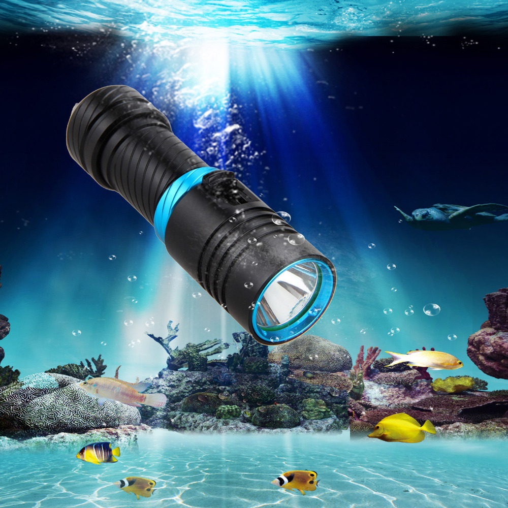 8000Lm CREE XML L2 Bicycle light Waterproof Underwater 100m LED Flashlight Diving bike light Torch for 18650 or 26650 battery