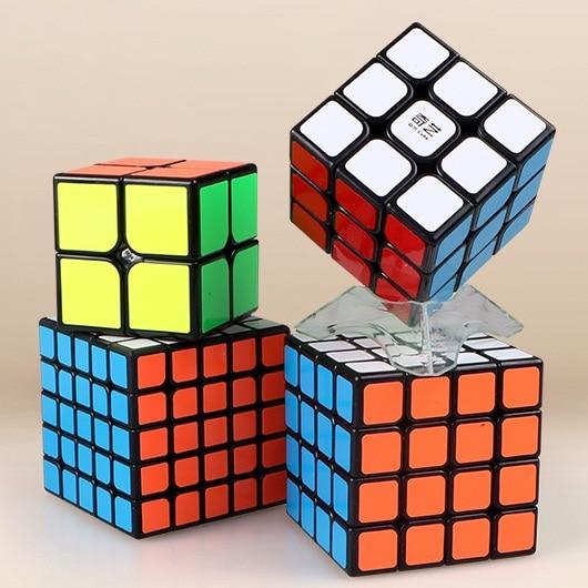 Qiyi Bundle 2x2x2 3x3x3 4x4x4 5x5x5 Triangle Dodecahedron Mastermorphix LVY Magic Speed Cube Puzzle 4PCS/Set Gift Pack Kid Toys