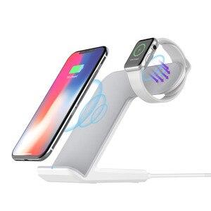 Image 2 - Ascromy iPhone X ve Apple Watch Kablosuz şarj doku Istasyonu iwatch 3 2 iPhone XS Max XR 8 Artı X S 11 Pro Indüksiyon Şarj