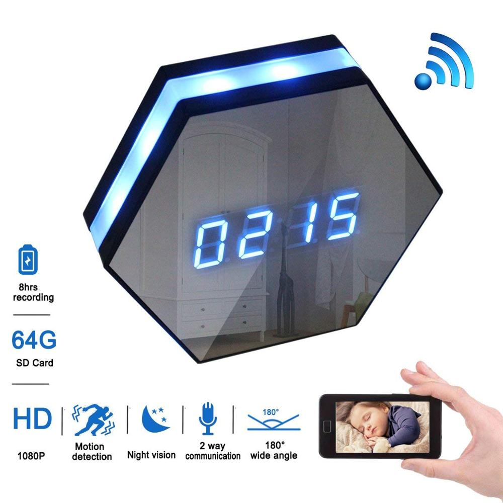 WIFI 1080P Mini Camera Z17 Time Alarm Wireless Nanny Cam Clock P2P IP/AP Home Security Night Vision Motion Detect Baby MonitorWIFI 1080P Mini Camera Z17 Time Alarm Wireless Nanny Cam Clock P2P IP/AP Home Security Night Vision Motion Detect Baby Monitor