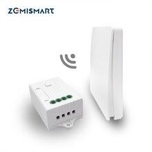 Zemismart Alexa Google 홈 키네틱 에너지 푸시 스위치 필요 없음 배터리 할로겐 라이트 용 무선 원격 제어 슈트