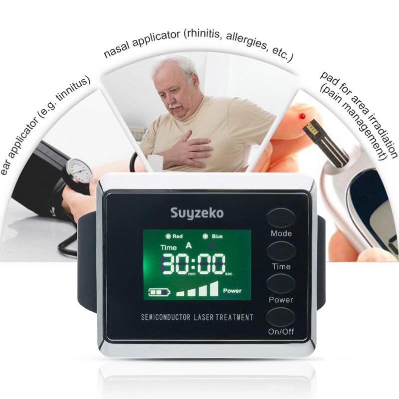 Dr gros laspot rhinite froid bio thérapie au laser médical physiothérapie montre machine/équipement pour la douleur vente
