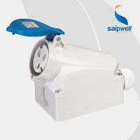 32A 230V 3P (2P+E) connector industrial waterproof socket wall mount Water/Splash Proof IP44 EN / IEC 60309 2 type SP1421