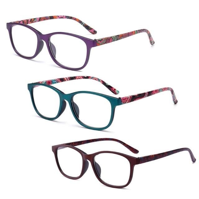 New Flower Reading Glasses Presbyopia Eyeglasses Reading Glasses Men Women 1.0 1.5 2.0 2.5 3.0 3.5 4.0 Diopter for Old People
