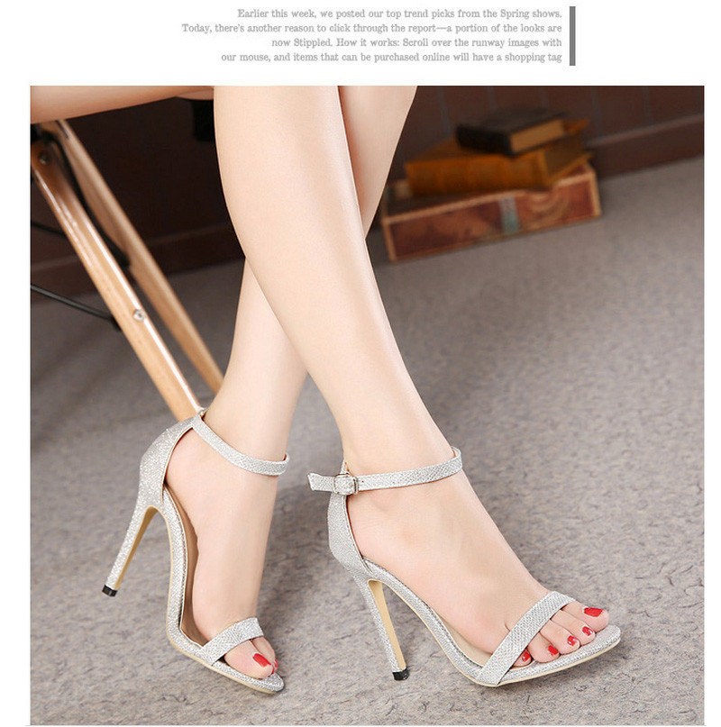 13ff294f0 big size 40 STAR LOVED shoes elegance women Party Sandals 11cm sexy ...