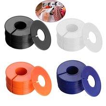 20 шт пластиковый стеллаж для одежды разделитель размеров s стойка для одежды круглые вешалки Шкаф разделитель размеров бирки для одежды Размер маркировочное кольцо