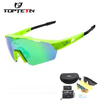 a4f4266f3e Polarizado gafas ciclismo UV400 deporte ciclismo gafas de sol bicicleta de  montaña gafas de carreras de carretera MTB bicicleta gafas para hombre