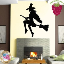 Wall Stickers Vinyl Decal Hot Sexy Girl Female Beauty Halloween Witch