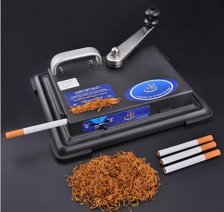 Nowy Metal maszyna do napełniania tub maszynka do skręcania papierosów palenie papierosów tytoniu akcesoria prezent dla mężczyzn w Fajki i akcesoria od Dom i ogród na  Grupa 1