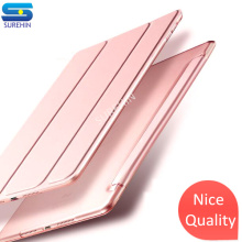 купить Nice case for apple iPad Pro 10.5 cover transparent slim thin PC hard back 3 fold protective magnetic smart PU Leather case дешево