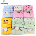 Baby Blanket Neonatal Hold Flannel Hooded Blanket Cartoon 3D Swaddling For Toddlers Infant Envelope For Newborns Bathrobe Towel