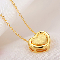 The Margin Of Female Silver Necklace Sterling Silver Necklace Female GOLD 925 Silver Heart Shape Pendant