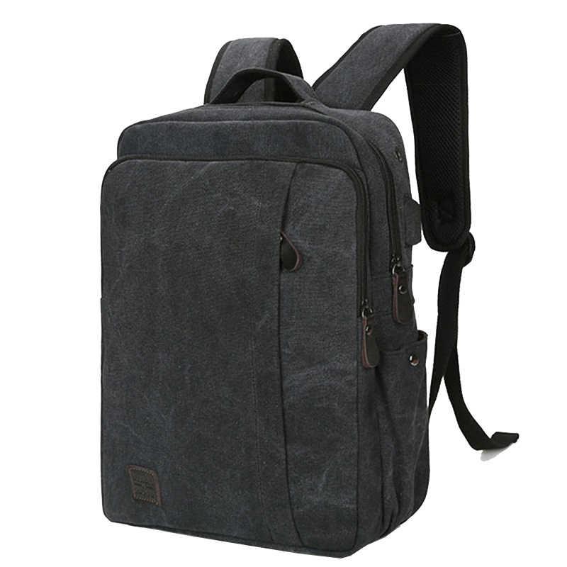 Внешняя USB зарядка, сумка для компьютера, брезентовый Рюкзак для ноутбука, мужские рюкзаки для ноутбука, школьные сумки для студентов, студентов, мужской рюкзак