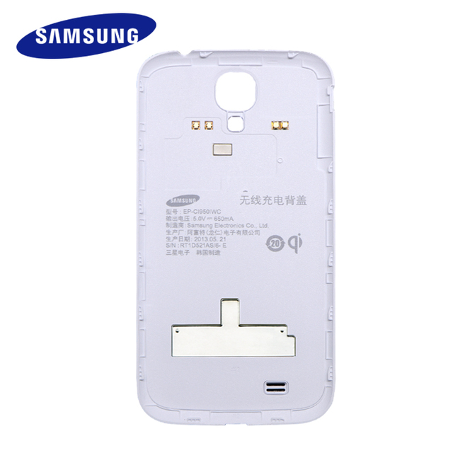 Samsung Galaxy S4 Original Housing Back Battery Cover Door Replacement GT-I9500/GT-I9508 Case qi Wireless S Charger Cover