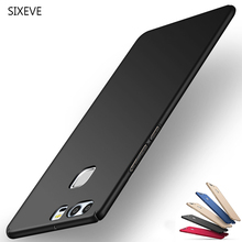Sixeve Thin Hard Matte Plastic Phone Case For Huawei P8 P9 P10 Lite Plus 2017 Cover Light Fashion PC Protector Smartpho Capa(China)