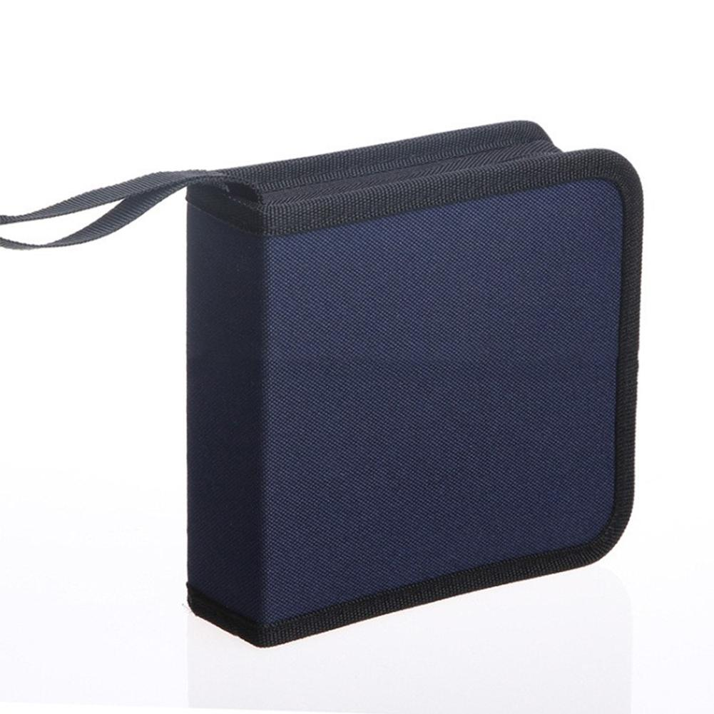 Durable CD Bags Accessories 40 Pieces High-grade Oxford Bag Car CD Case Storage Bag Album Holder Box Cover Carrying Organizer(China)