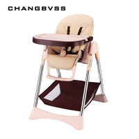 New Simple Portable Baby Feeding Chair With Safty Belt 57*82*110cm Plastic Baby High Chair Adjustable Anti Slip Highchair