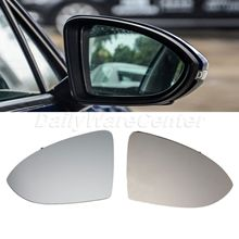 цена на 1 Pair Heated Door Wing Mirror Glass For VW Golf 2013-2016 Mk7 Heated Side Mirror Car-styling Heating Tinted Rearview Car Mirror