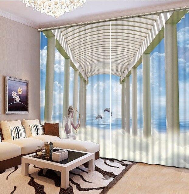 Tende finestra della cucina 3d personalizza tende per il salone ...