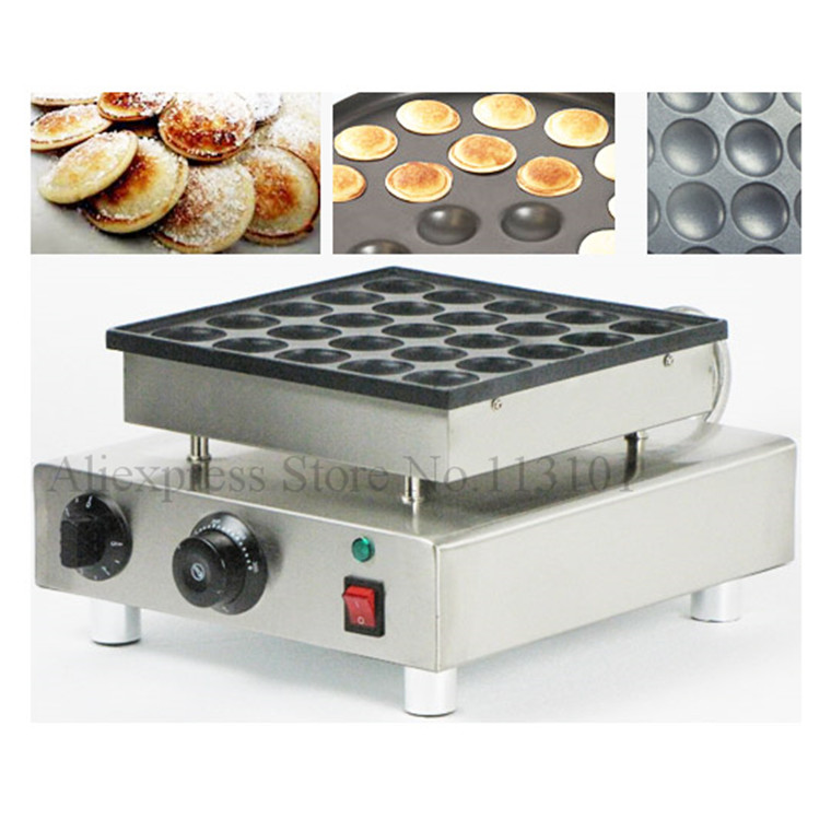 Poffertjes machine stainless steel small pancake machine with non stick pan poffertjes grill waffle maker with