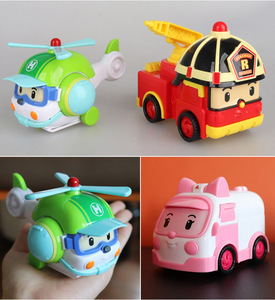 Image 4 - 4pcs Original boy poli Robocar Korea Poli Inertial Car Kids Toys Transformation Anime Action Figure Toys For Children Playmobil