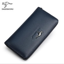 cow leather wallets for men long genuine Leather Wallet cell phone pocket handbag Male Clutch Purse card holder mara s dream 2017 new genuine cow leather long wallet men real leather clutch wallets casual men s billfold card checkbook