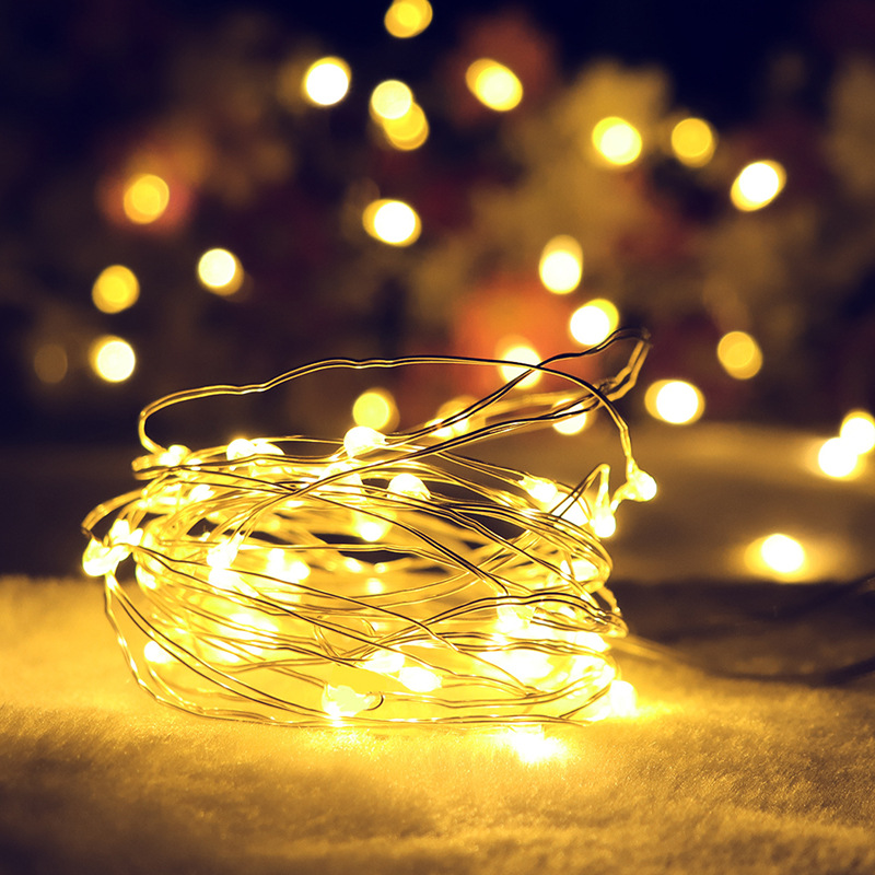 LED String Light 1M/ 2M 20 LED Battery Operated Copper Wire String Lights For Xmas Garland Party