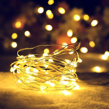 LED String Light 1M/ 2M 20 Battery Operated Copper Wire Lights for Xmas Garland Party