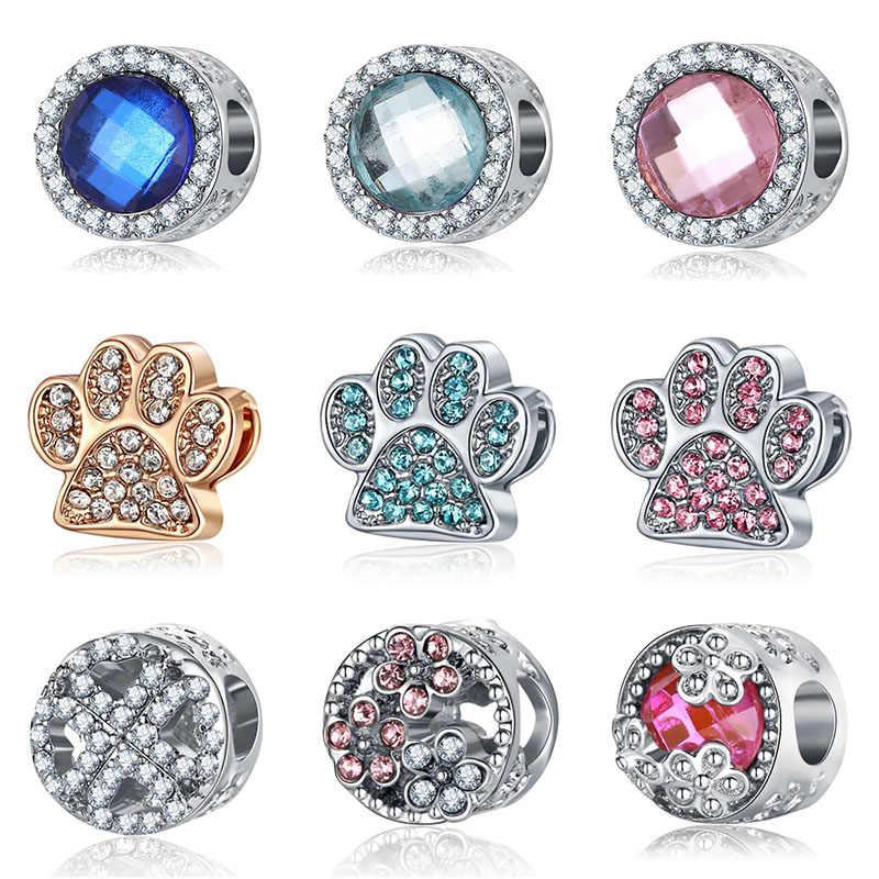 Fit Pandora Charms Silver 925 Original Bracelet Jewelry Valentine's Day Mary Poppins Bijoux Crystal Kolczyki Beads Jewellery