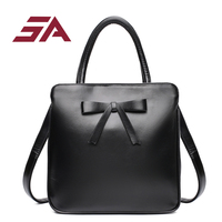 SA new pu Leather Women Fashion Bags Ladies Simple simple Handbags Casual tote bowknot Shoulder Messenger Bags bowl