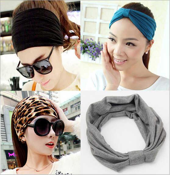 new korean wide soft elastic headbands sports yoga for women adult girls  lady head wraps hair c4b31fa62721